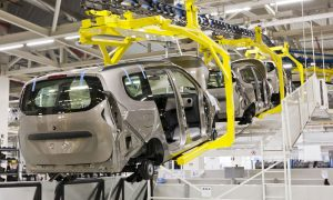 car manufacture stock image