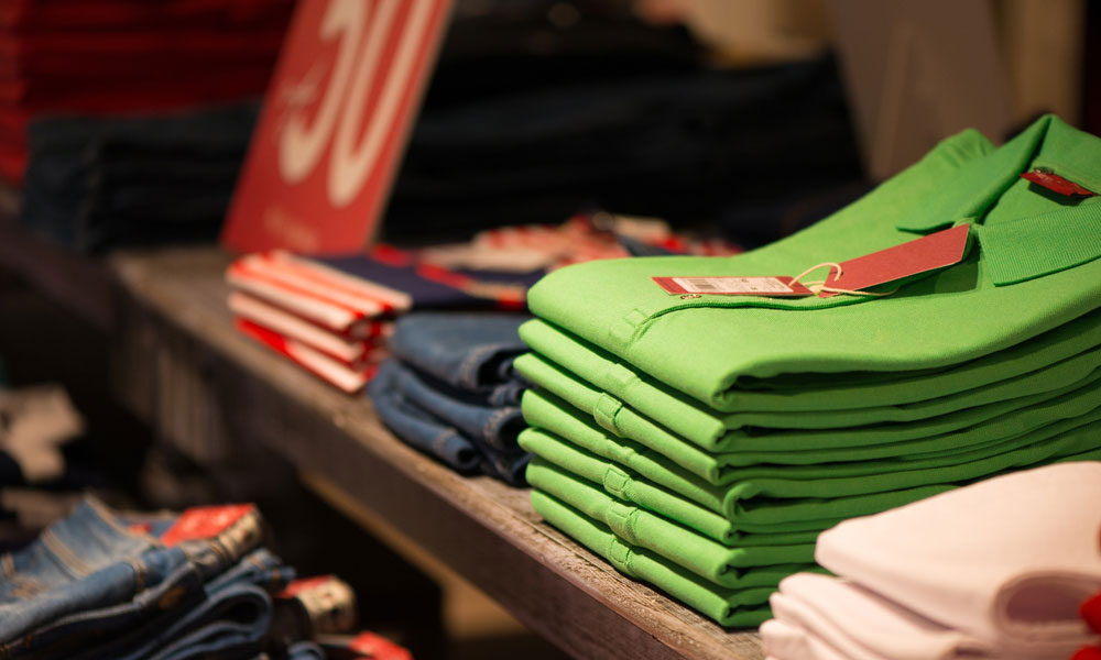 clothing retail stock image