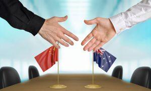 china australia deal stock image