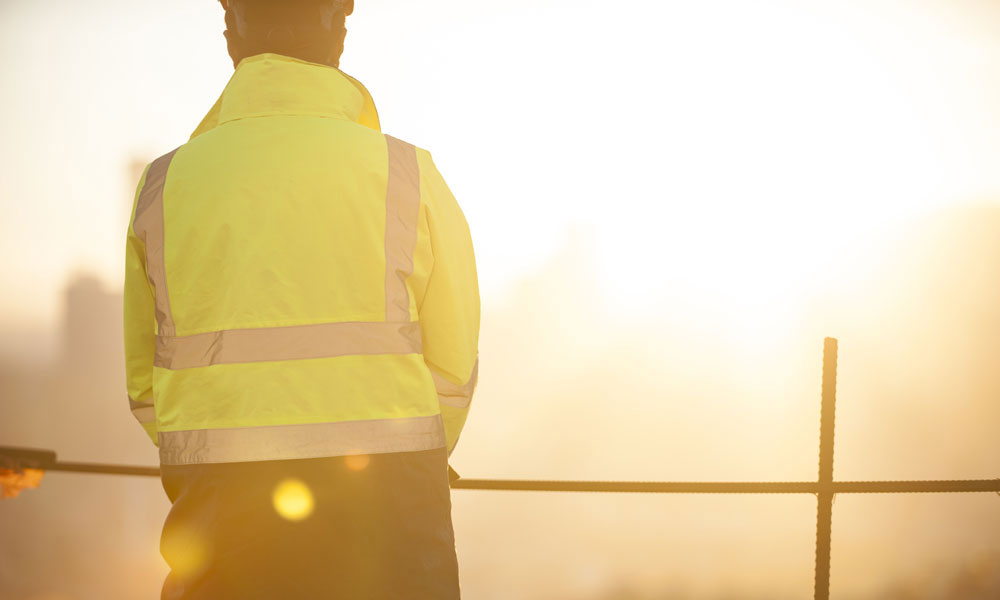construction-worker-sunset