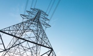 electricity tower power stock image