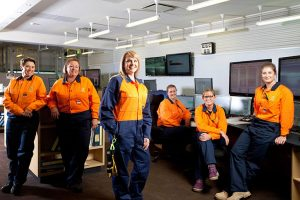 The six new trainees at Yallourn power station.