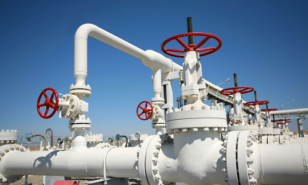 gas pipes stock image