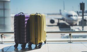 travel suitcase stock image
