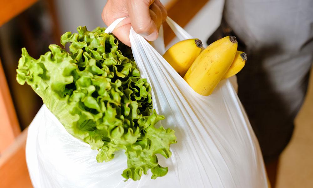 plastic bag shopping stock image