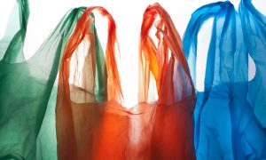 plastic bags stock image