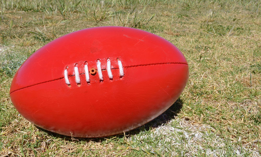 afl football stock image