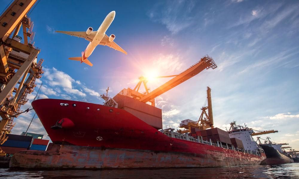 logistics concept shot stock image