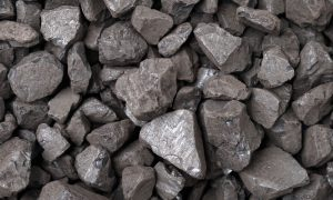 iron ore rocks stock image