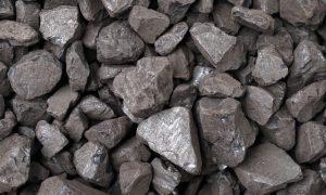 iron ore rocks stock image