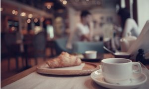 cafe food stock image