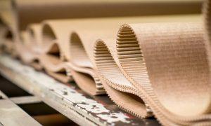 cardboard manufacturing stock image