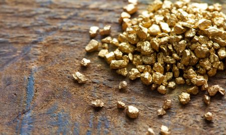 golden nuggets stock image