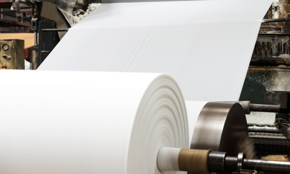 paper manufacturing stock image