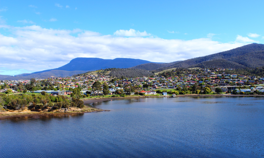 tasmania housing residential stock image