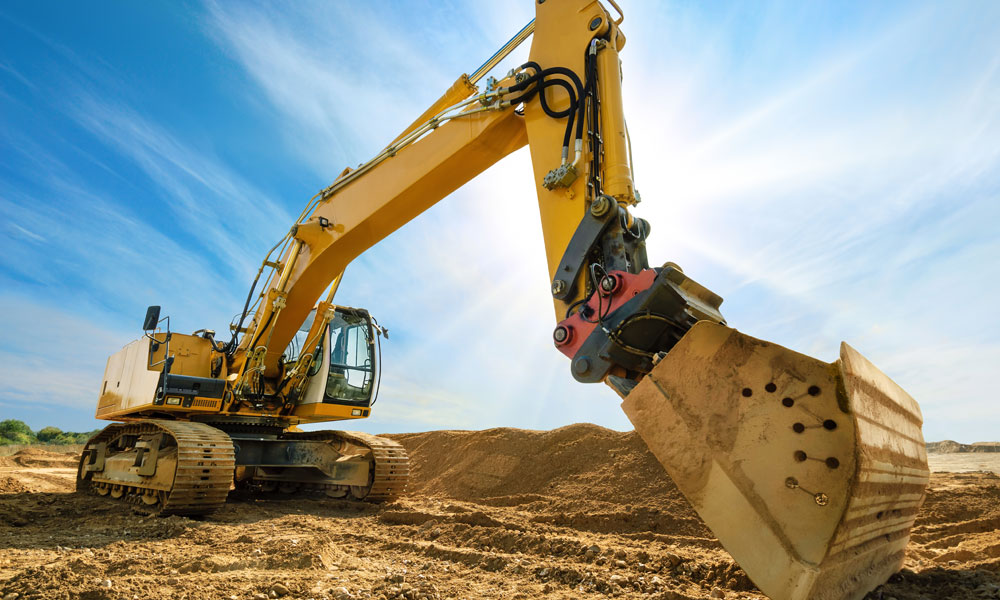 construction digger stock image