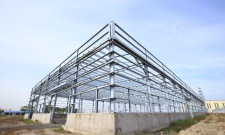 construction steel stock image