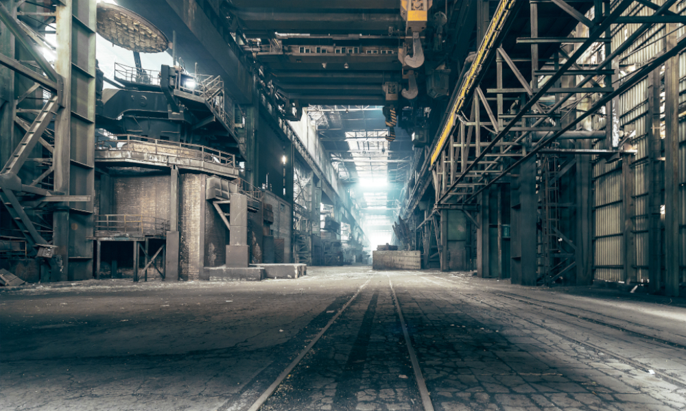 factory abandoned stock image