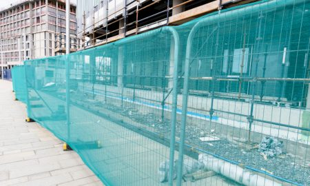 security fencing stock image