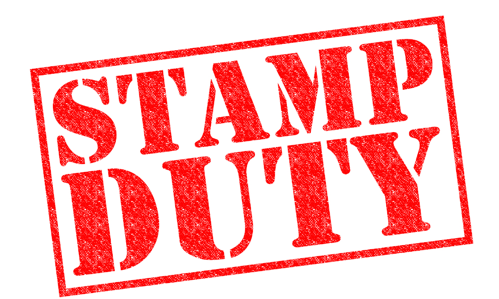 stamp duty stock image