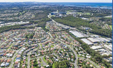 suburbia infrastructure stock image