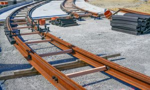 track work stock image