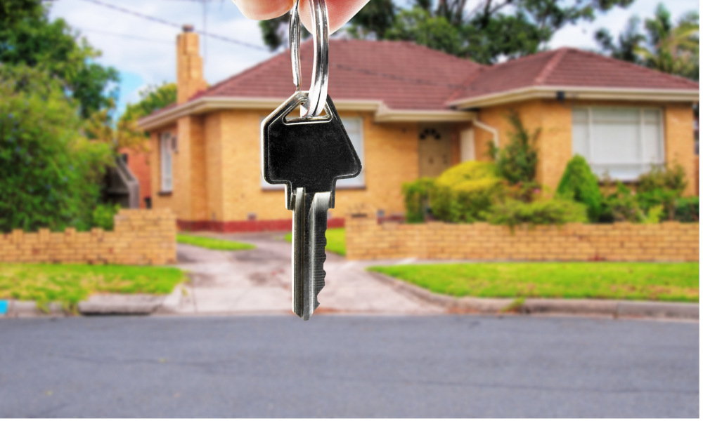 house keys sale stock image