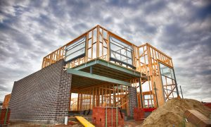 housing construction stock image