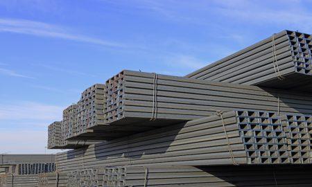steel trade stock image