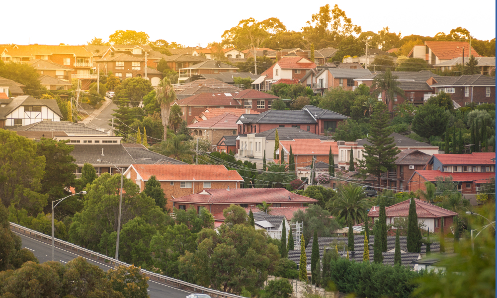 victoria melbourne housing stock image