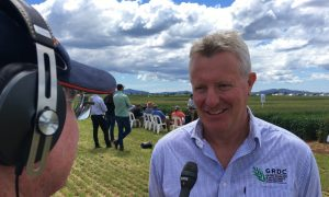 GRDC Managing Director Steve Jefferies, pictured at Hagley in Tasmania recording the new podcast, says the transformational change being sought through the Hyper Yielding Cereals Project is setting the production agenda for the broader grains industry in Australia. Photo: Anvil Media.