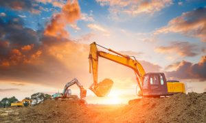 excavation stock image