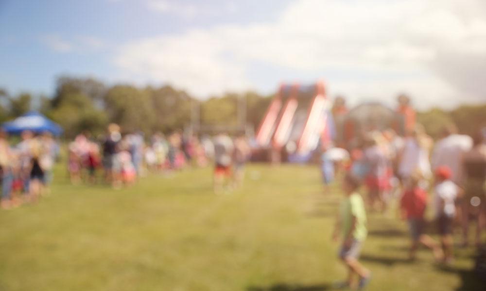 festival blurry stock image