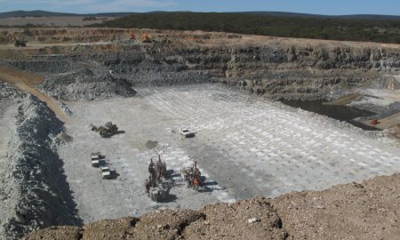 lithium mine stock image