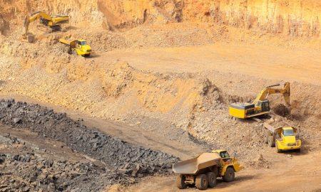 manganese mine stock image