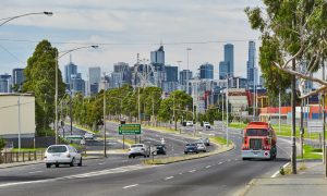 melbourne road stock image