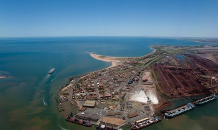 port hedland stock image