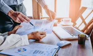 report analysis stock image