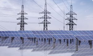 solar farm stock image