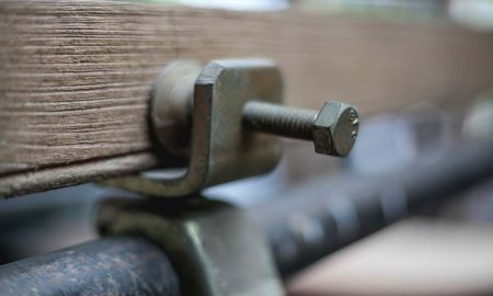 fencing close up stock image
