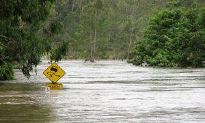 flood queensland stock image