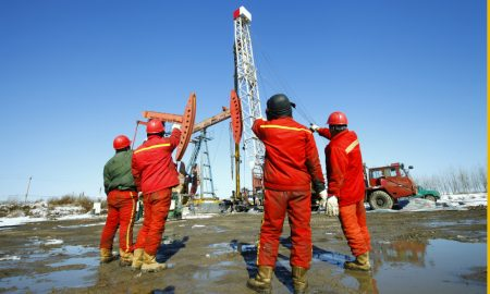 gas oil exploration stock image