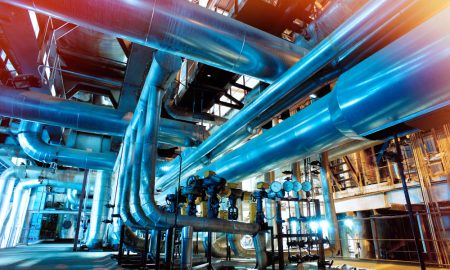 manufacturing plant stock image