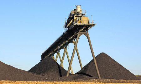 mining coal conveyor stock image