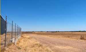 road rural fence queensland stock image