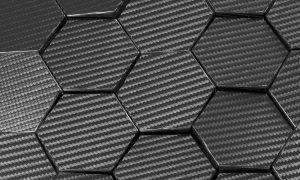 Carbon fiber hexagon abstract background 3D Rendering