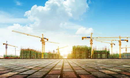 construction infrastructure stock image