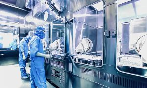 medical manufacturing stock image