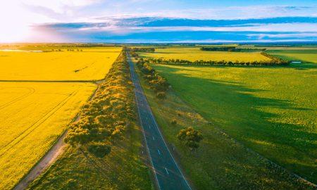western australia farm land stock image