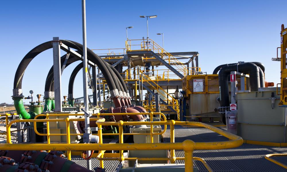 lithium mining western australia stock image